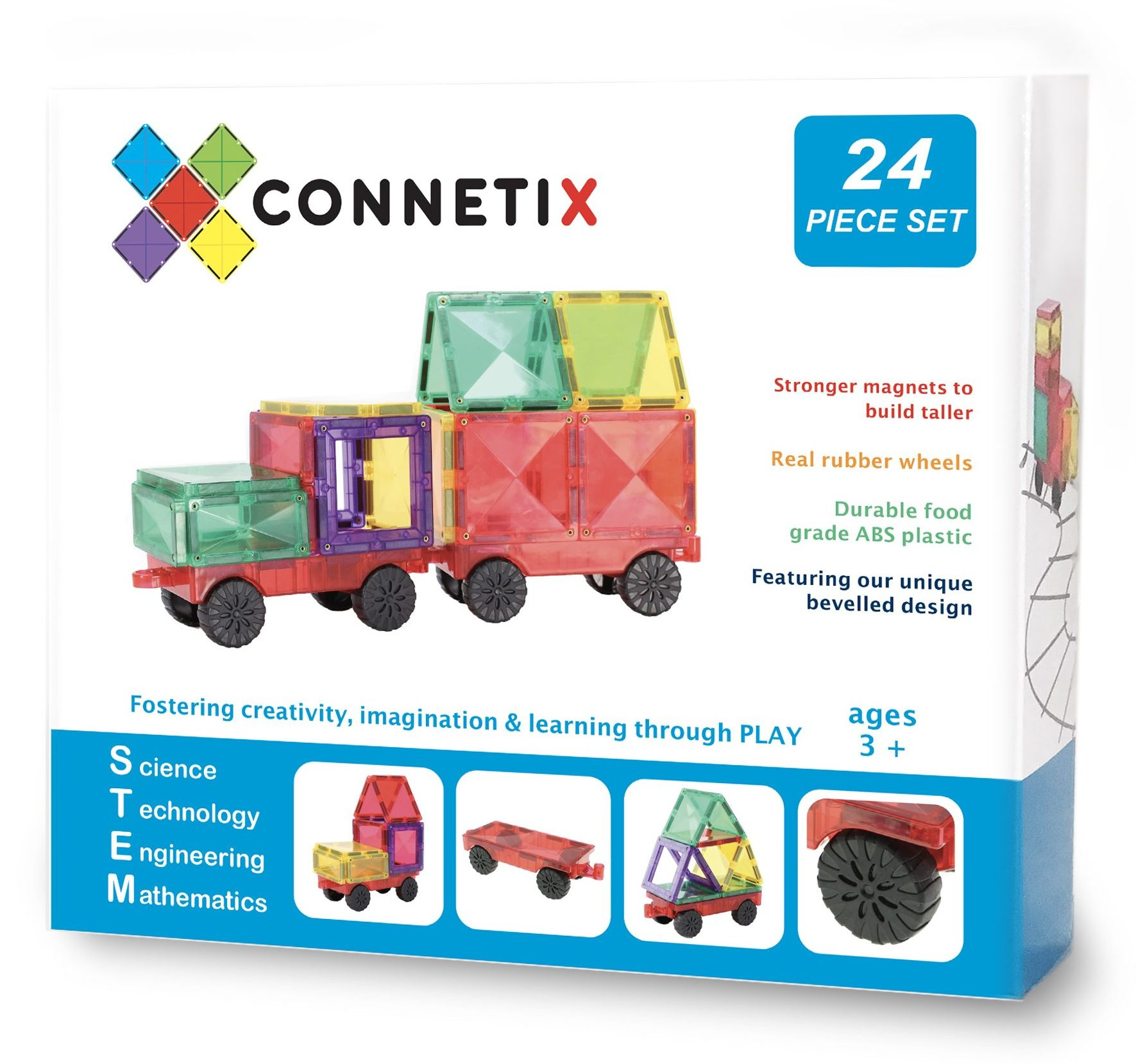 Connetix Tiles 24 kusů